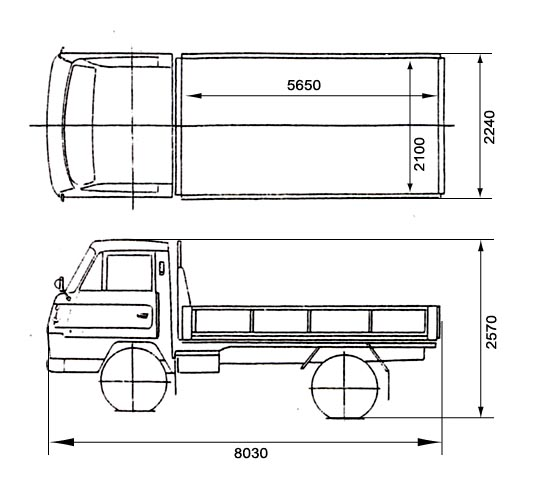 寸法 図 トラック 4t 4tトラック全ガイド!車種・車両寸法・荷台寸法・価格・中型4トン車